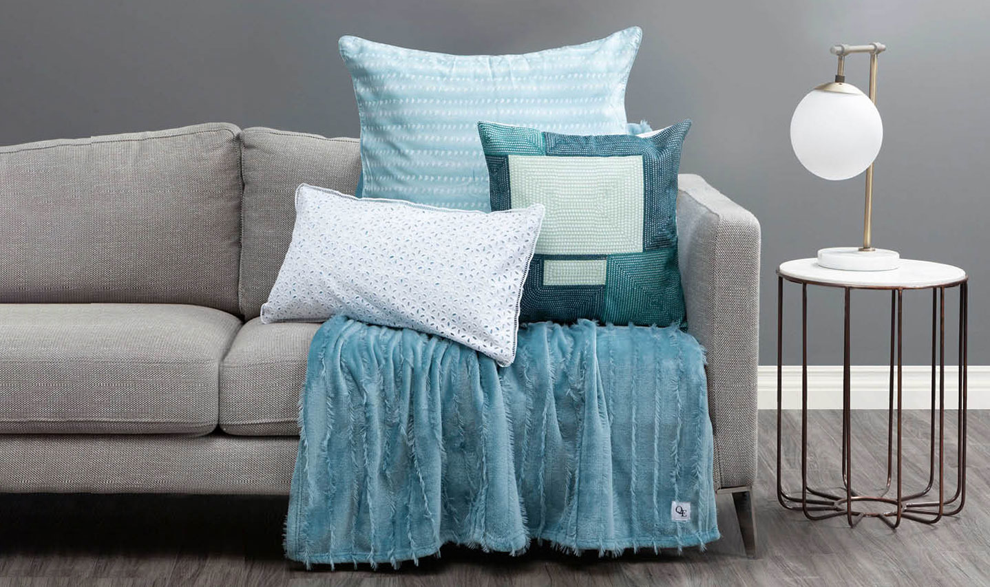 Teal Toned Mix of Decor Accessories